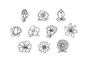 Gratis Bloemen Handgetekende Vector