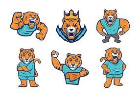 Gratis Tigrar Mascot Vector