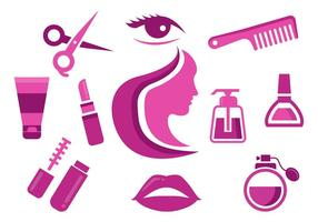 Free Beauty Icons Vektor