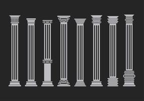 Verschillende Corinthische Set Gratis Vector