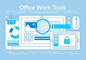 Elementos Linear Office Tools gratuitos vector