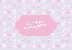 Vektor söta hjärtan sömlös mönster