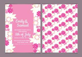 Vector Watercolor Floral Wedding Invite