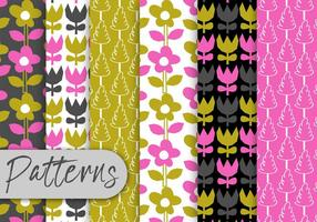 Colorful Tulips Pattern Set