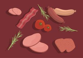 Charcuterie Table Set Gratis Vector