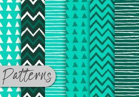 Green-stripes-pattern-set