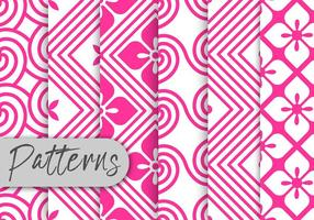 Pink Rosete Pattern Set