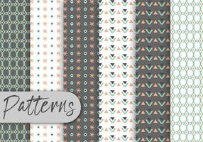 Cute Geometric Decorative Pattern Set