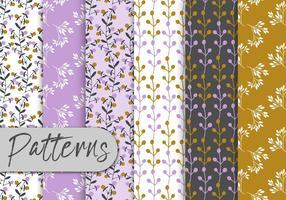 Romántico conjunto de patrones florales