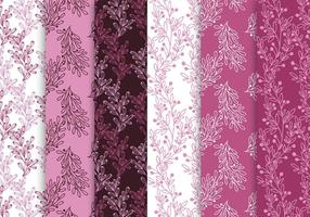 Pink And Purple Pattern Set