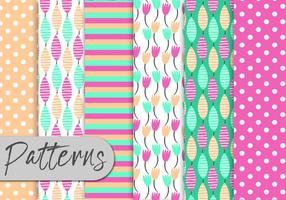 Cute-colorful-nature-pattern-set