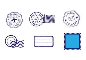 Blue Cachet Vector Set