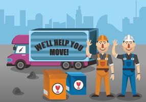 Movers Vector Design