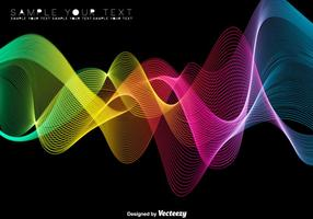 Fond de spectre coloré abstrait - vecteur