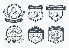 Arm wrestling badge collectie