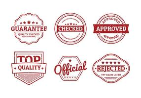 Cachet Seal Set Gratis Vector
