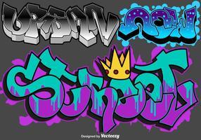 Conjunto de arte urbano de graffiti vectorial