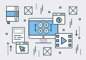 Elementos vectoriales de datos digitales lineales libres