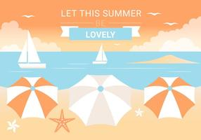 Gratis Summer Beach Elements Background