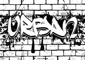 Letra urbana en estilo grafitti