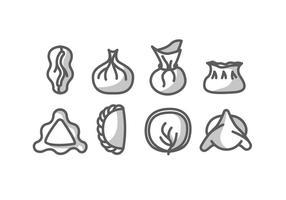 Dumpling vector icons