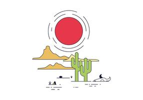 Vetor livre do deserto