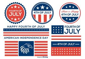 Fourth of July Badge and Label Collection vector