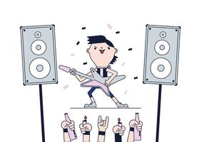 Gratis Rock Star Vector