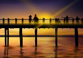 Beautiful Sunset Boardwalk