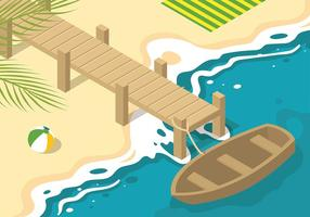 Boardwalk Isometrische Gratis Vector