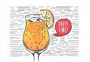 Bebida libre dibujada mano del vector