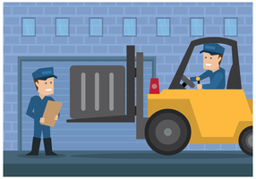 Delivery Men Moving Illustration Vector