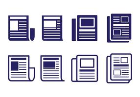 Press Release Icon Set vektor