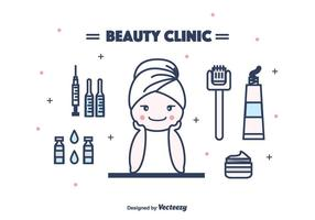 Cosmetology Equipment Vector