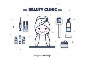 Vecteur de matériel de cosmétologie