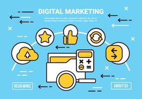 Gratis Flat Digital Marketing Concept Vector