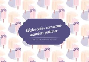 Vecteur watercolor glace seamless pattern