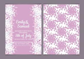 Vector Feminine Watercolor Wedding Invite