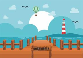 Boardwalk Vector Design