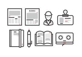 Alte Pressemitteilung Vektor
