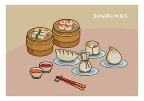 Gratis Dumplings Vector Illustration