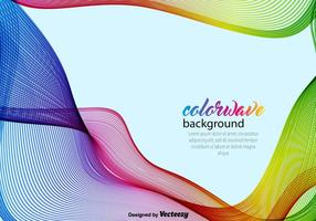 Abstract Background With Colorful Wave-Vector Template vector