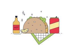 Vecteur taco gratuit
