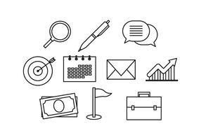Gratis Business Line Icon Vector
