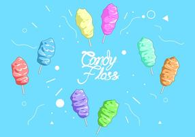 Rainbow Candy Floss Free Vector
