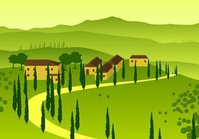 Toskana Übersicht Free Vector