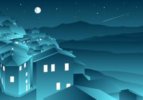 Shooting Star In Tuscany Vector