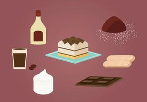 Tiramisu Cake Vector