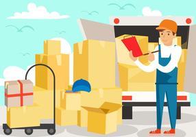 Delivery Man Services vector