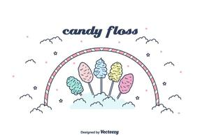 Süßigkeit Floss Vektor